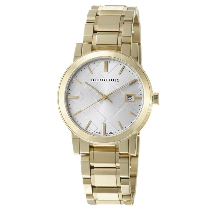 Burberry Unisex BU9003 Large Check Gold-Tone Stainless Steel Watch