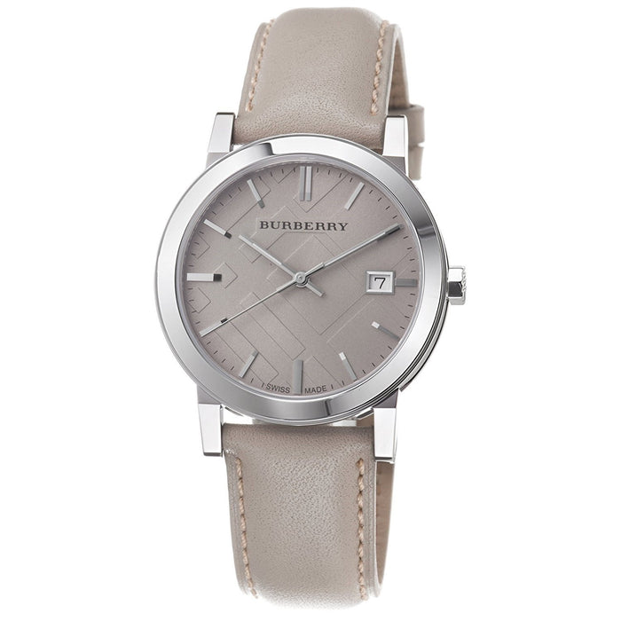 Burberry Unisex BU9010 Large Check Tan Leather Watch