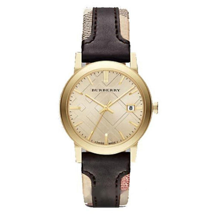 Burberry Women's BU9032 The City Beige and Brown Nylon and Leather Watch