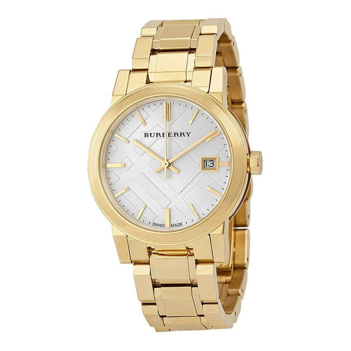 Burberry Women's BU9103 Large Check Gold-Tone Stainless Steel Watch