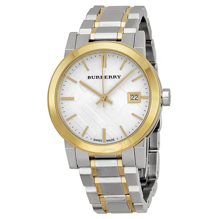 Burberry Women's BU9115 The City Check Two-Tone Stainless Steel Watch