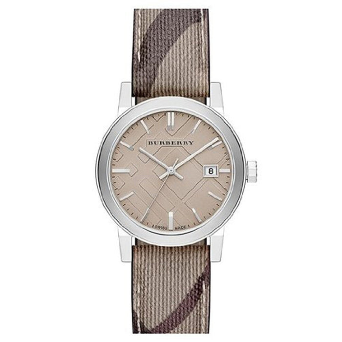 Burberry Women's BU9118 Nova Check Beige Fabric and Leather Watch