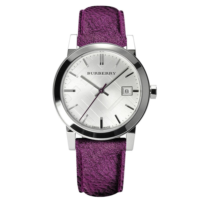 Burberry Women's BU9122 The City Purple Leather Watch
