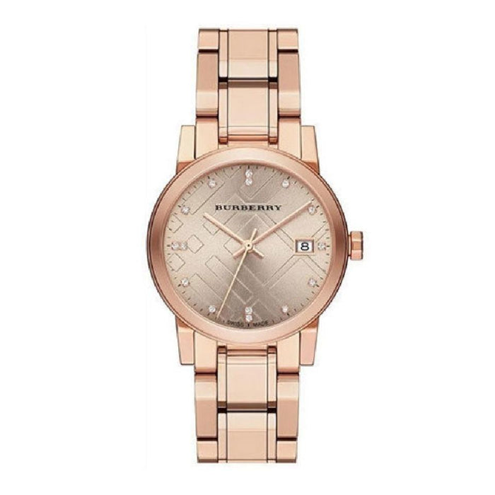Burberry Women's BU9126 The City Diamond Rose-Tone Stainless Steel Watch