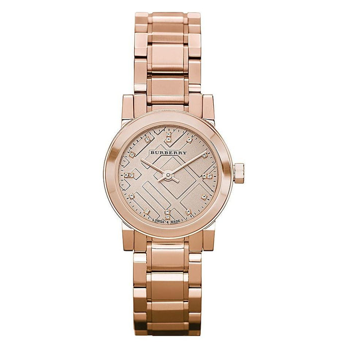 Burberry Women's BU9215 Heritage Diamond Rose-Tone Stainless Steel Watch