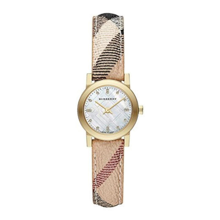 Burberry Women's BU9226 The City Diamond Beige Stainless Steel Watch