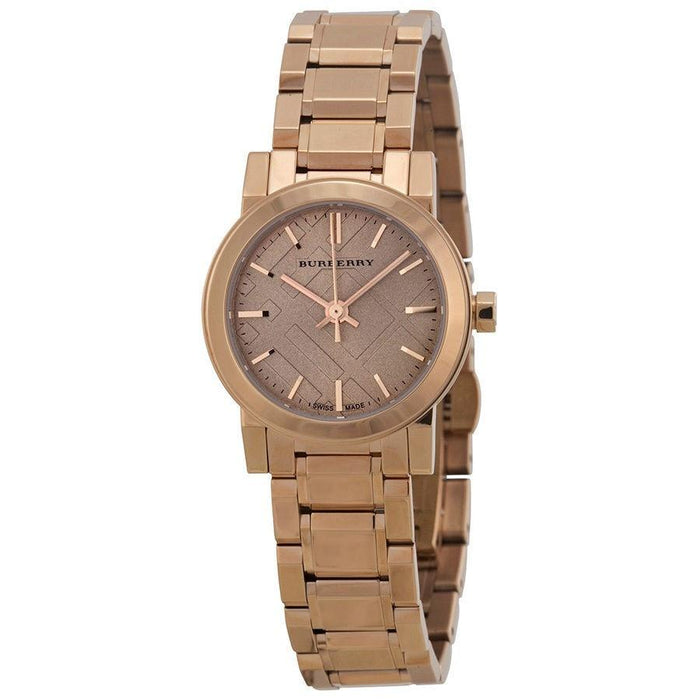 Burberry Women's BU9228 The City Rose-Tone Stainless Steel Watch