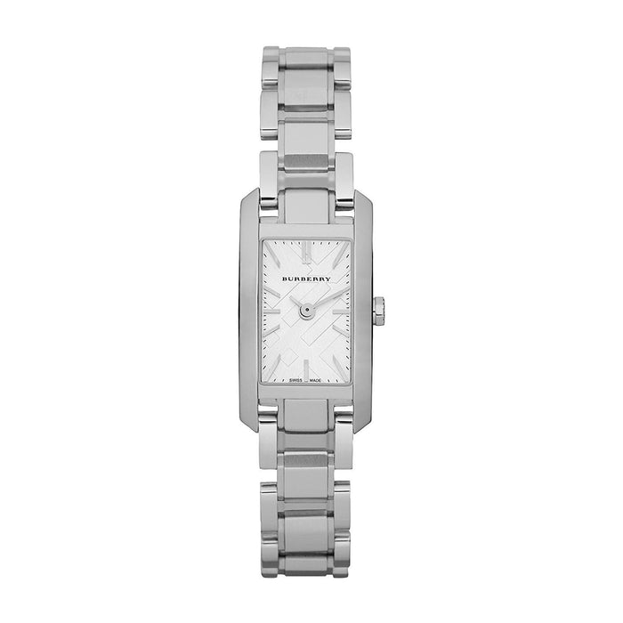Burberry Women's BU9600 Check Engraved Stainless Steel Watch
