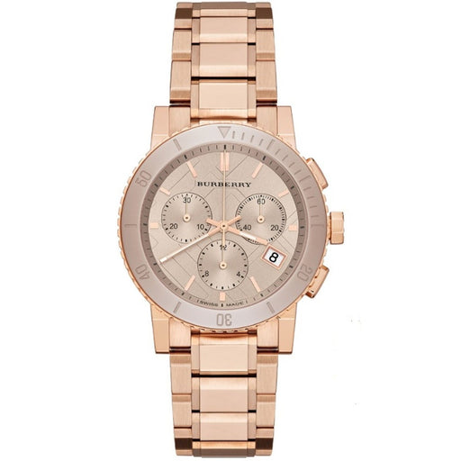 Burberry Women's BU9703 The City Chronograph Rose-Tone Stainless Steel Watch