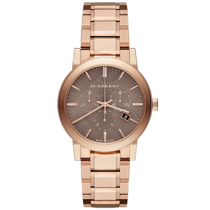Burberry Unisex BU9754 The City Chronograph Rose-Tone Stainless Steel Watch