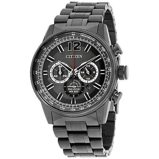 Citizen Men's CA4377-53H Nighthawk Chronograph Grey Stainless Steel Watch