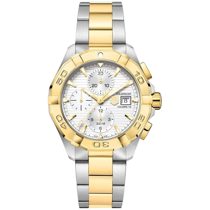 Tag Heuer Men's CAF2120.BB0816 Aquaracer 18K Gold Chronograph Automatic Two-Tone Stainless Steel Watch