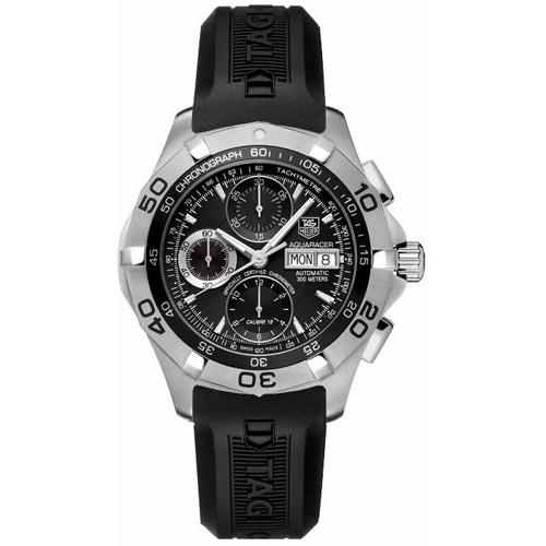 Tag Heuer Men's CAF5010.FT8011 Aquaracer Chronograph Automatic Black Rubber Watch