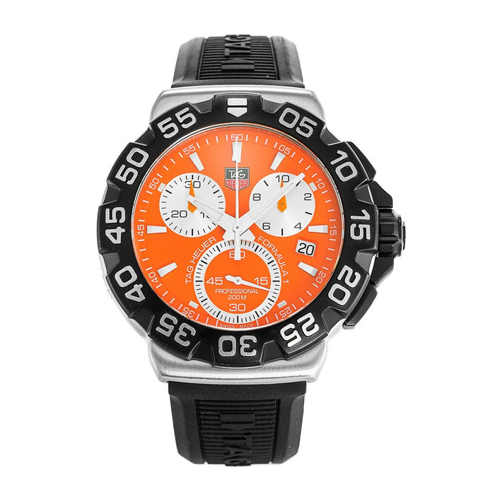 Tag Heuer Men's CAH1113.BT0714 Formula 1 Chronograph Black Rubber Watch