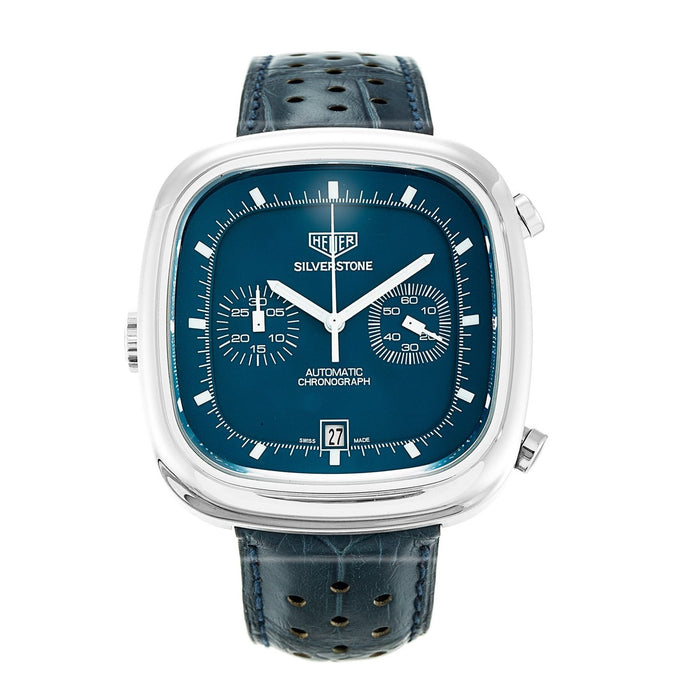 Tag Heuer Men's CAM2110.FC6258 Silverstone Limited Edition Chronograph Automatic Blue Leather Watch