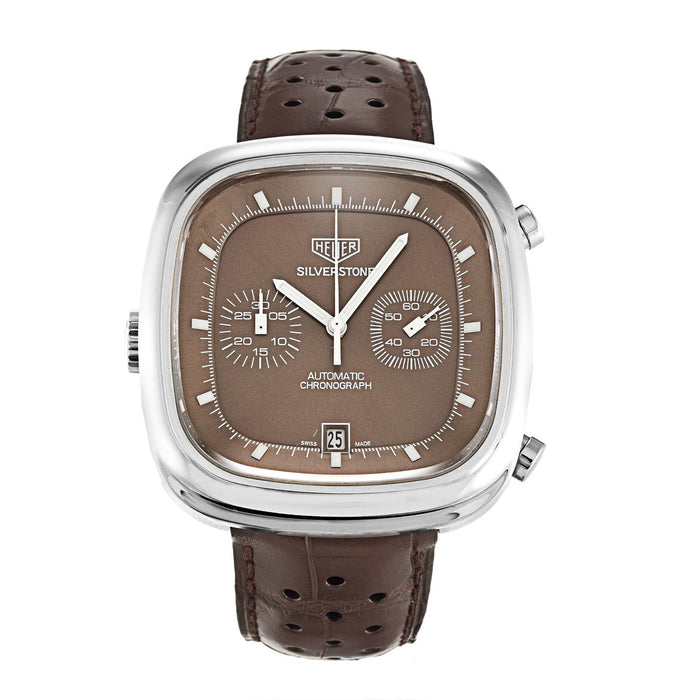 Tag Heuer Men's CAM2111.FC6259 Silverstone Limited Edition Chronograph Automatic Brown Leather Watch