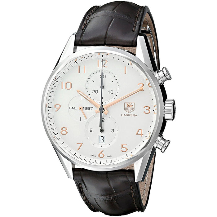 Tag Heuer Men's CAR2012.FC6236 Carrera Chronograph Automatic Brown Leather Watch