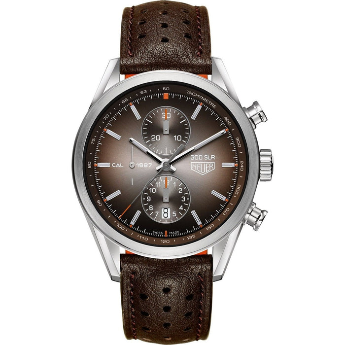 Tag Heuer Men's CAR2112.FC6267 Carrera Chronograph Automatic Brown Leather Watch