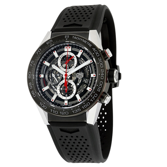Tag Heuer Men's CAR2A1Z.FT6044 Carrera Chronograph Automatic Black Rubber Watch
