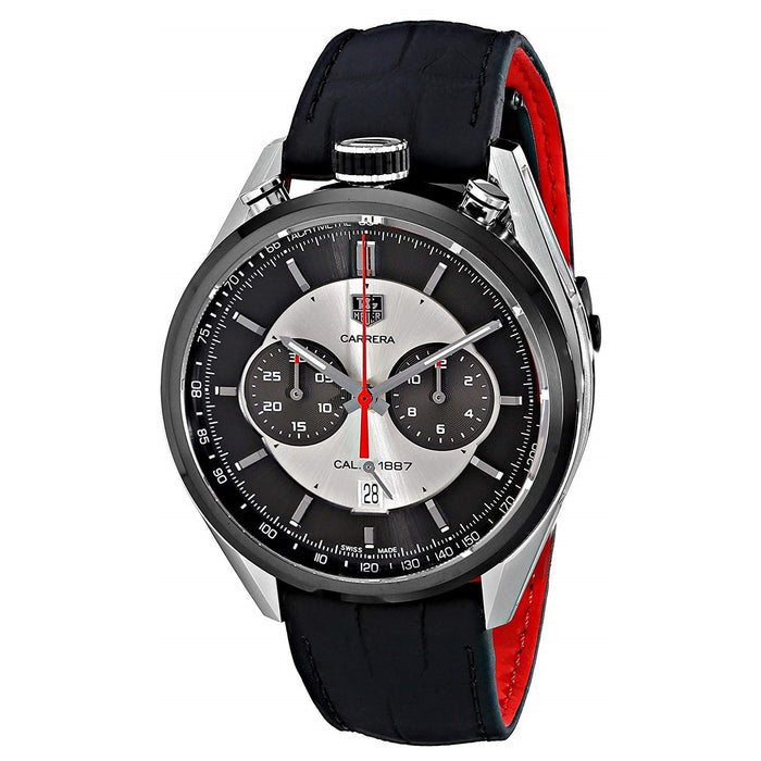 Tag Heuer Men's CAR2C11.FC6327 Carrera Jack Heuer Limted Edition Chronograph Automatic Black Leather Watch
