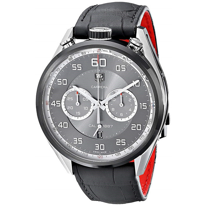 Tag Heuer Men's CAR2C12.FC6327 Carrera Jack Heuer Limted Edition Chronograph Automatic Black Leather Watch