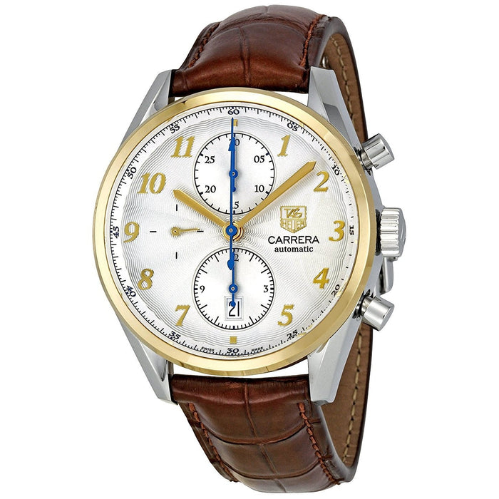 Tag Heuer Men's CAS2150.FC6291 Carrera Heritage 18kt yellow gold Chronograph Automatic Brown Leather Watch