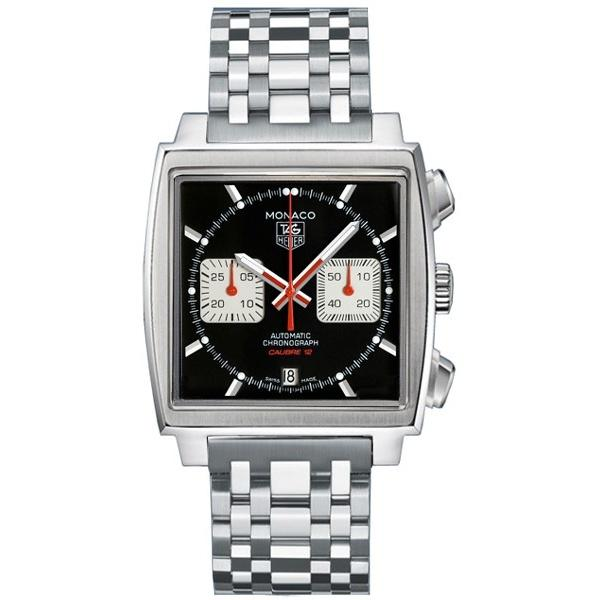 Tag Heuer Men's CAW2114.BA0780 Monaco Chronograph Automatic Stainless Steel Watch
