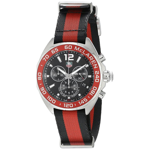 Tag Heuer Men's CAZ1112.FC8188 Formula One Chronograph Red and Black Canvas Watch