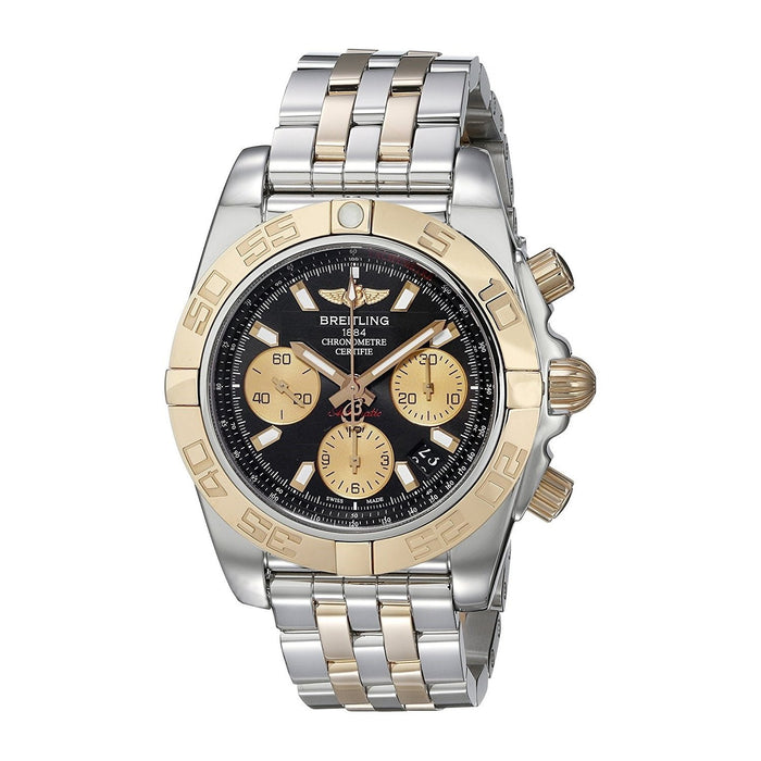 Breitling Men's CB014012-BA53 Chronomat 41 18 Kt Rose Gold Chronograph Automatic Two-Tone Stainless Steel Watch