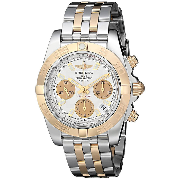 Breitling Men's CB014012-G713TT Chronomat Chronograph Automatic 18kt Rose Gold Two-Tone Stainless Steel Watch