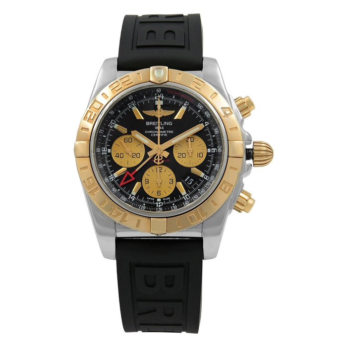 Breitling Men's CB042012-BB86-153S Chronomat 44 GMT Chronograph Black Rubber Diver Pro III Watch