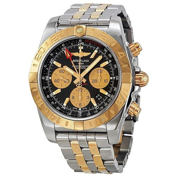 Breitling Men's CB042012-BB86 Chronomat 44 GMT 18kt Rose Gold Chronograph Automatic Two-Tone Stainless Steel Watch