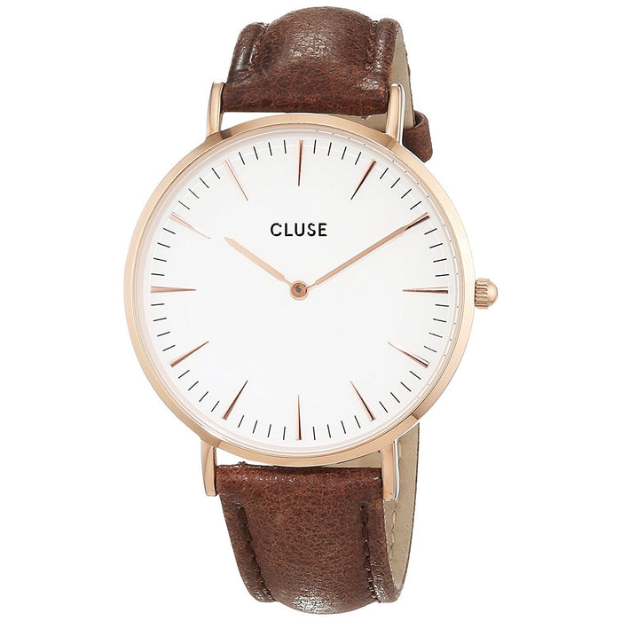 Cluse Women's CL18010 La Boheme Brown Leather Watch