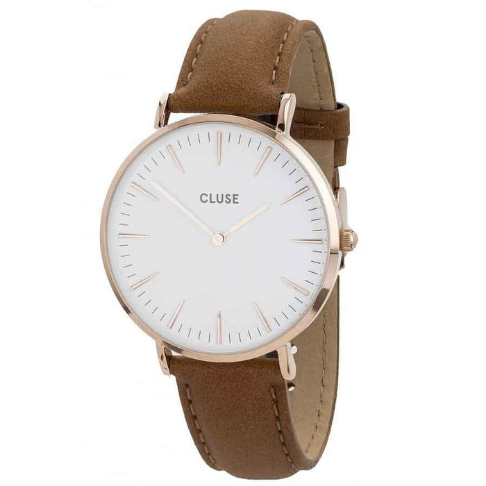 Cluse Women's CL18011 La Boheme Brown Leather Watch