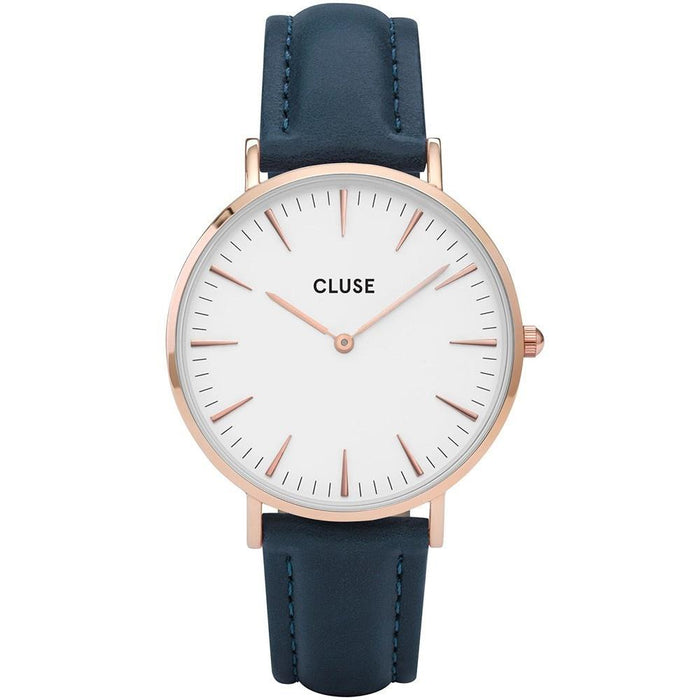 Cluse Women's CL18016 La Boheme Blue Leather Watch