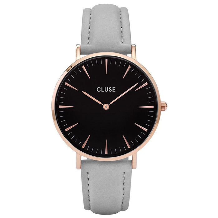 Cluse Women's CL18018 La Boheme Grey Leather Watch