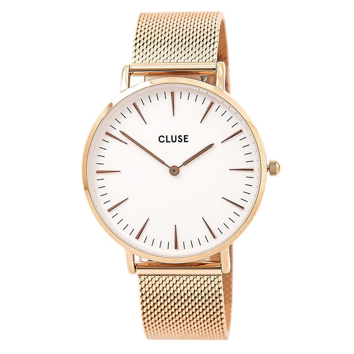 Cluse Women's CL18112 La Boheme Rose-Tone Stainless Steel Watch