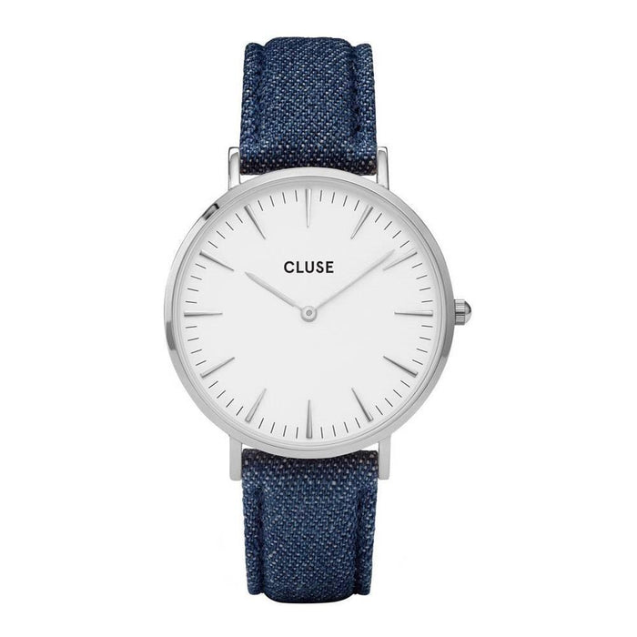 Cluse Women's CL18229 La Boheme Blue Denim and Leather Watch