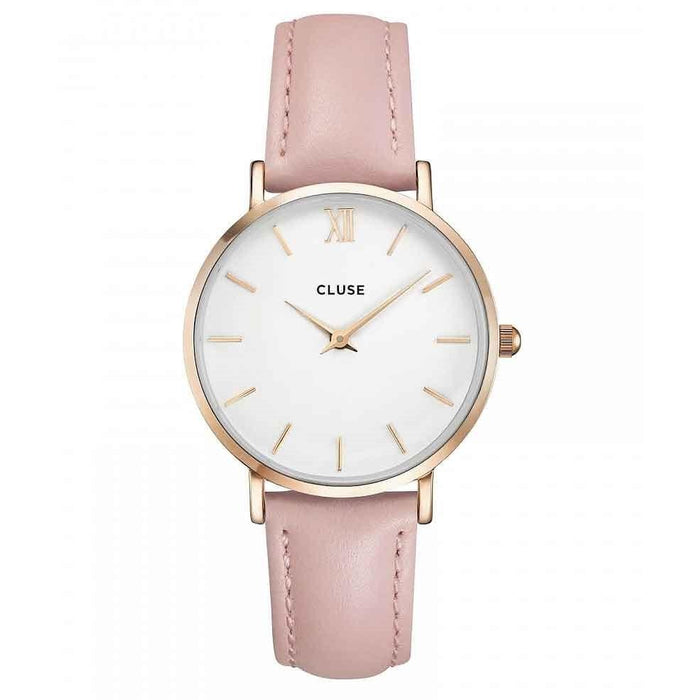 Cluse Women's CL30001 Minuit Pink Leather Watch