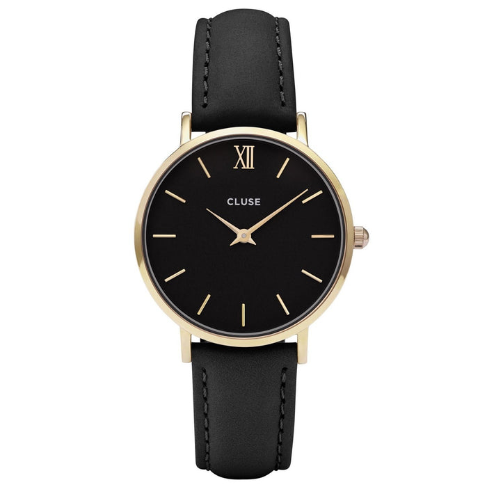 Cluse Women's CL30004 Minuit Black Leather Watch