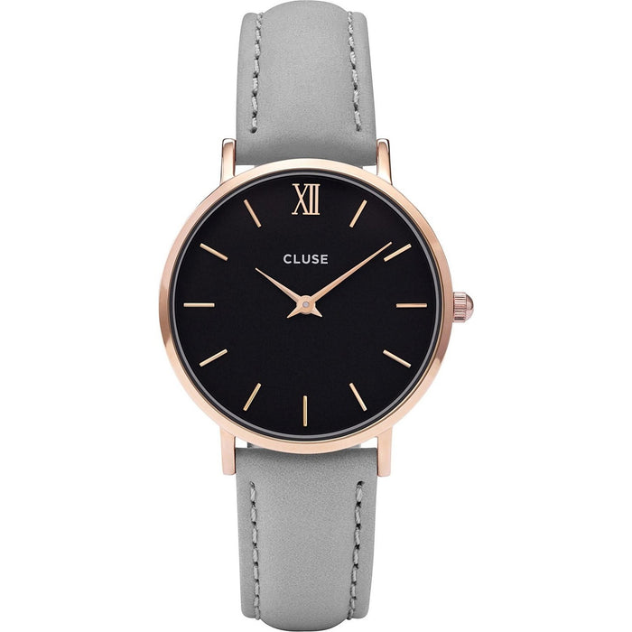 Cluse Women's CL30018 Minuit Grey Leather Watch