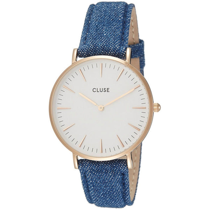 Cluse Women's CL30029 Minuit Blue Denim and Leather Watch