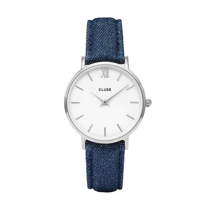 Cluse Women's CL30030 Minuit Blue Denim and Leather Watch
