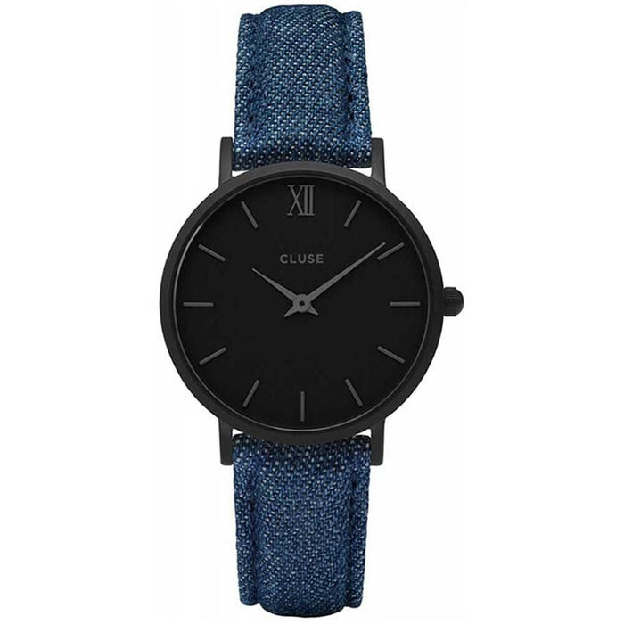 Cluse Women's CL30031 Minuit Blue Denim and Leather Watch