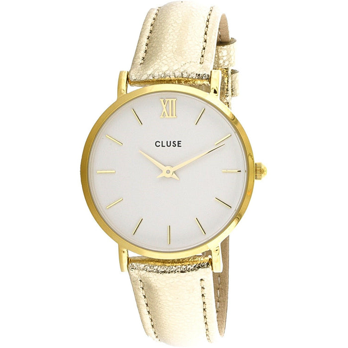 Cluse Women's CL30036 Minuit Gold-Tone Leather Watch