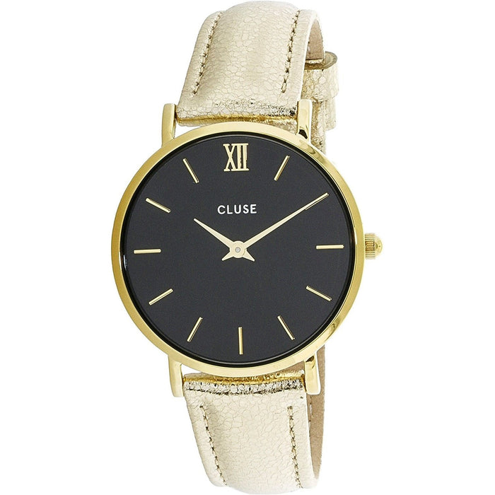Cluse Women's CL30037 Minuit Gold-Tone Leather Watch