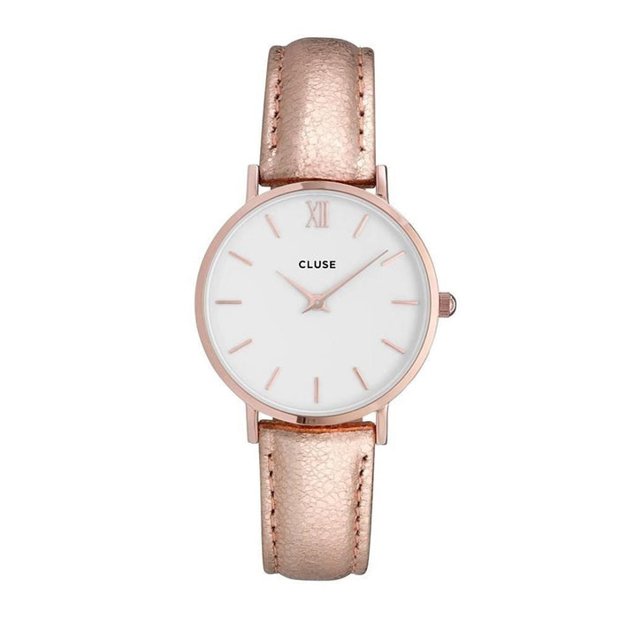 Cluse Women's CL30038 Minuit Rose-Tone Leather Watch