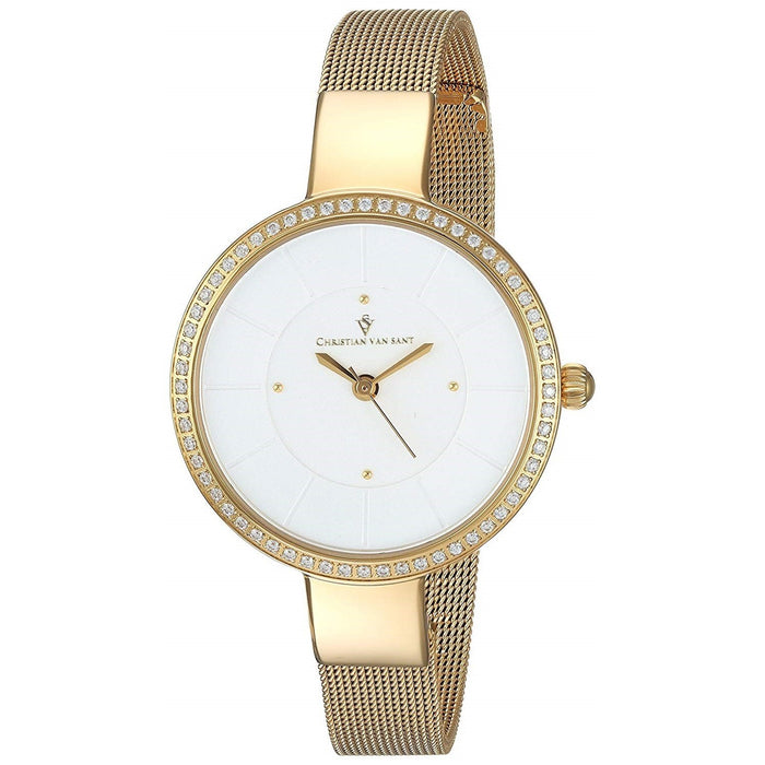 Christian Van Sant Women's CV0222 Reign Gold-Tone Stainless Steel Watch