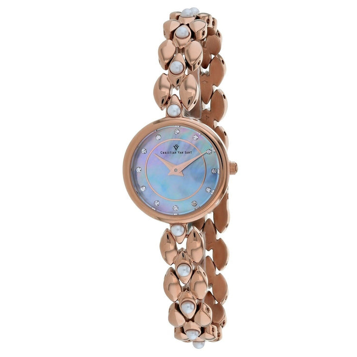 Christian Van Sant Women's CV0614 Perla Rose Gold-Tone Stainless Steel Watch