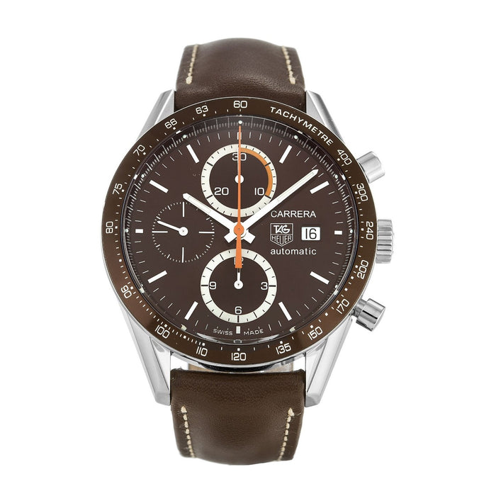 Tag Heuer Men's CV2013.FC6234 Carrera Chronograph Automatic Brown Leather Watch